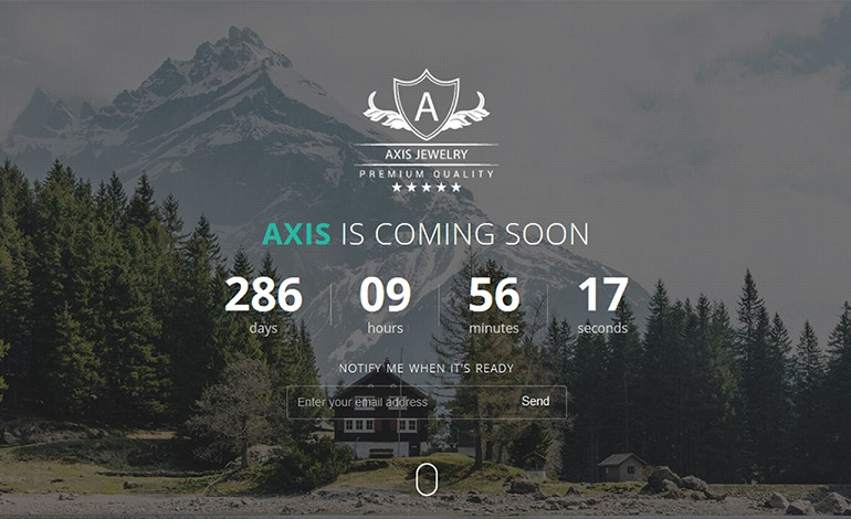 Axis Responsive Coming Soon WordPress Plugin