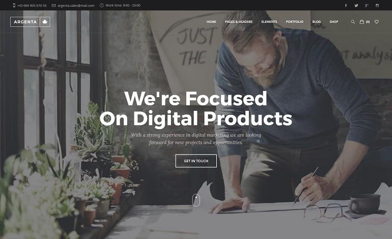Argenta Multipurpose WordPress Theme