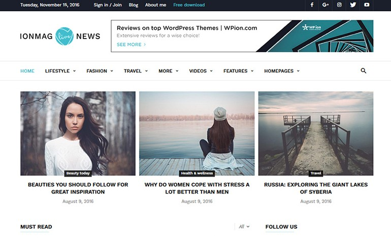ionMag The Free News Theme for Blog and Magazine Websites