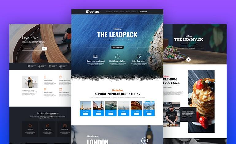 LeadPack Multi Purpose Landing Pages
