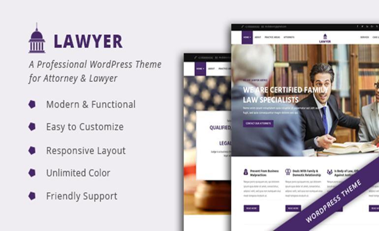Lawyer A Professional WordPress Theme for Attorney Lawyer