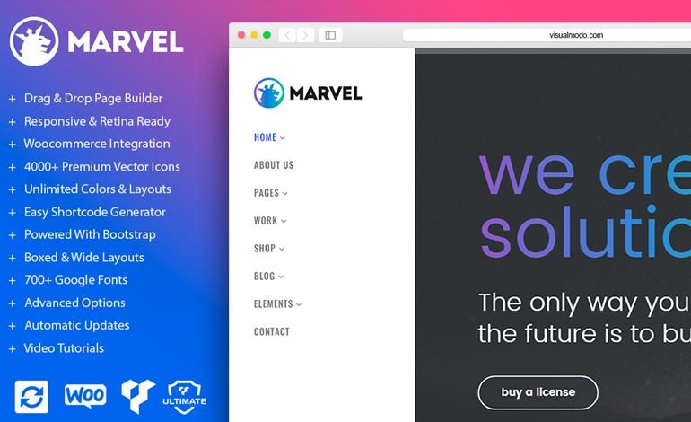 Marvel Vertical Menu WordPress Theme