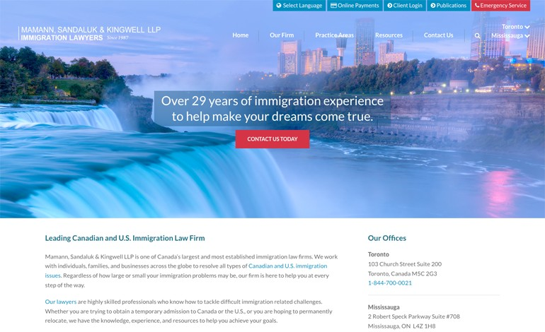 Mamann Sandaluk and Kingwell LLP  Canadian Immigration Lawyers