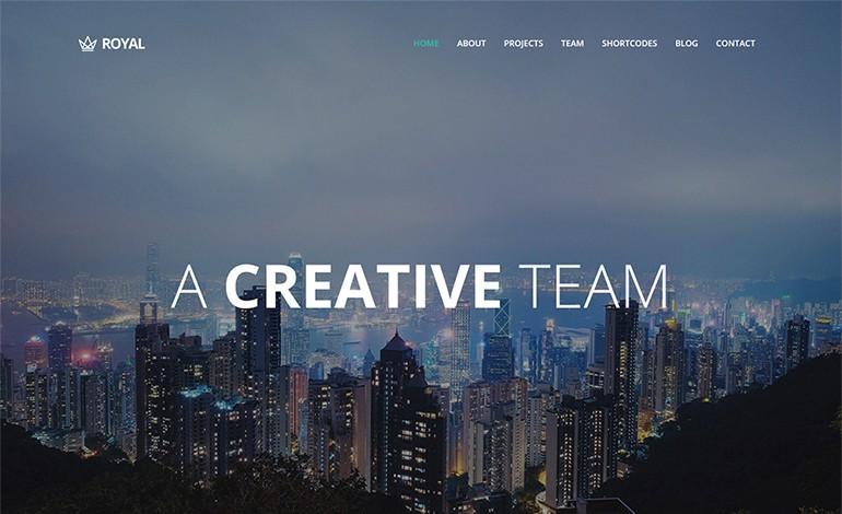Royal Responsive One Page Parallax WordPress Theme