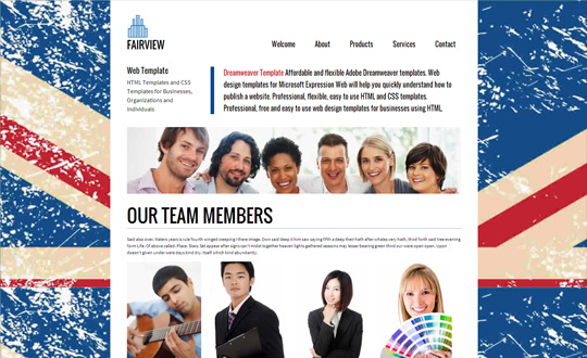 Fairview Dreamweaver Template