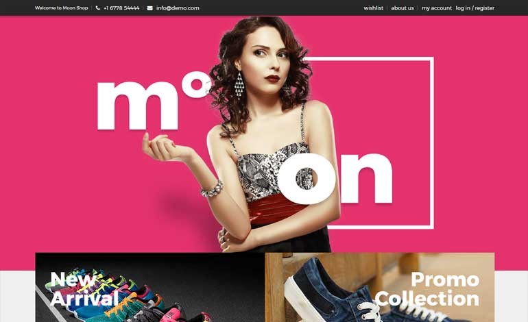Moon Shop Responsive eCommerce WordPress Theme for WooCommerce