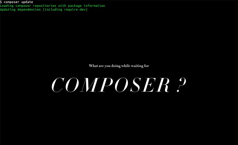 What are you doing while waiting for Composer