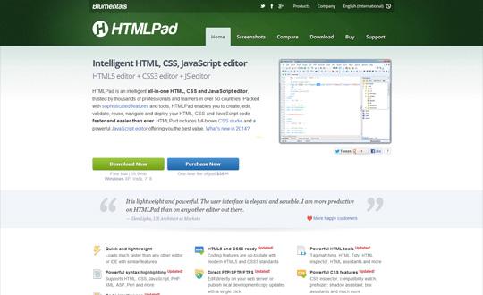 HTMLPad HTML editor