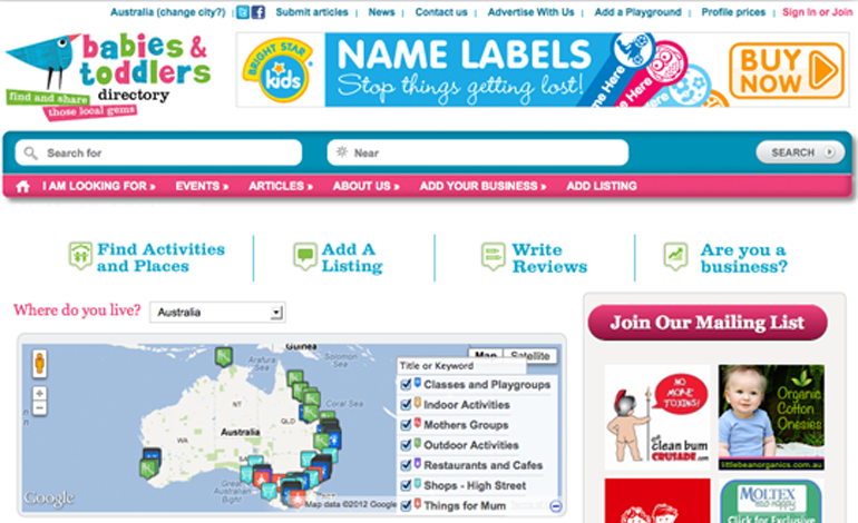 Babies and Toddlers Directory