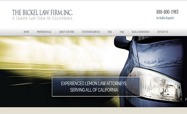 California Lemon Law Attorneys Bickel Law Firm Inc >> The Bickel Law Firm Inc Csslight