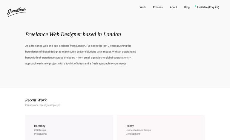Jonathan Kelley Freelance Web Designer