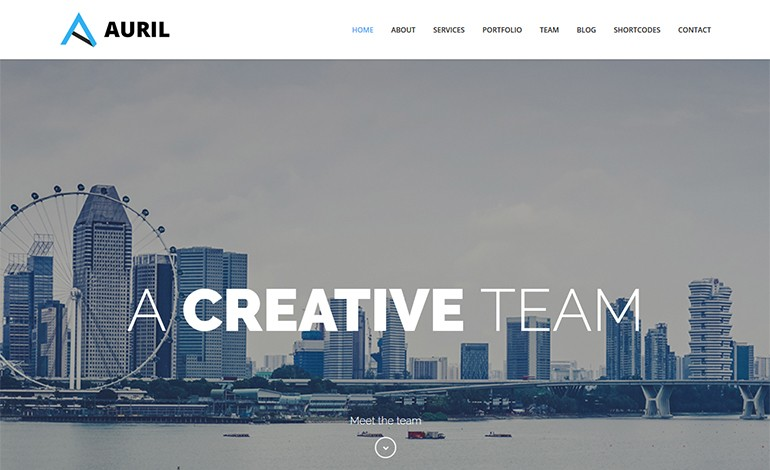 Auril Creative One Page WordPress Theme