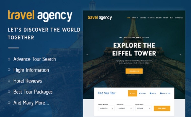 Travel Agency Tours Travels Hotel Booking HTML Template