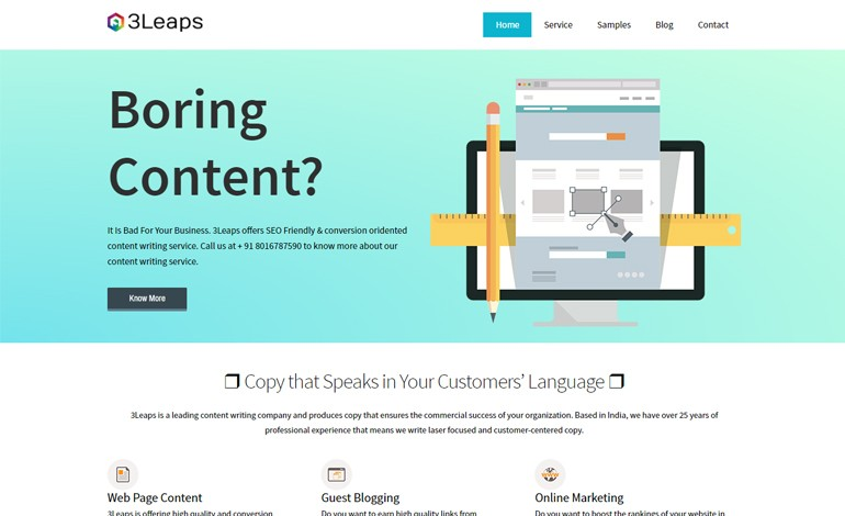 3Leaps Content Writing Company