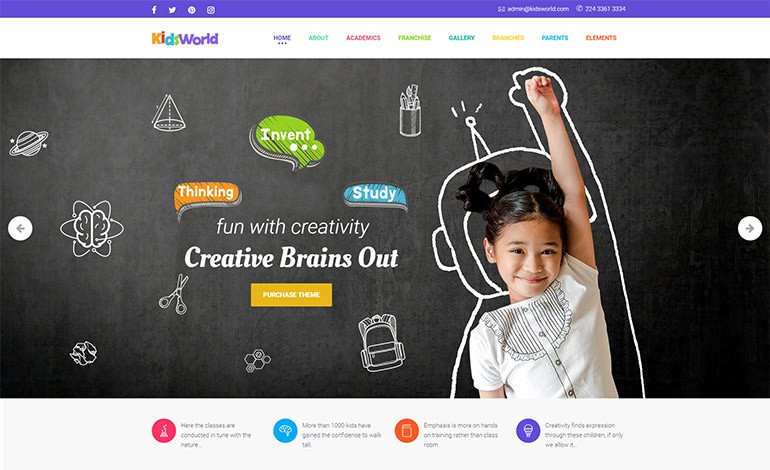 Kids World Children WordPress Theme- CSSLight