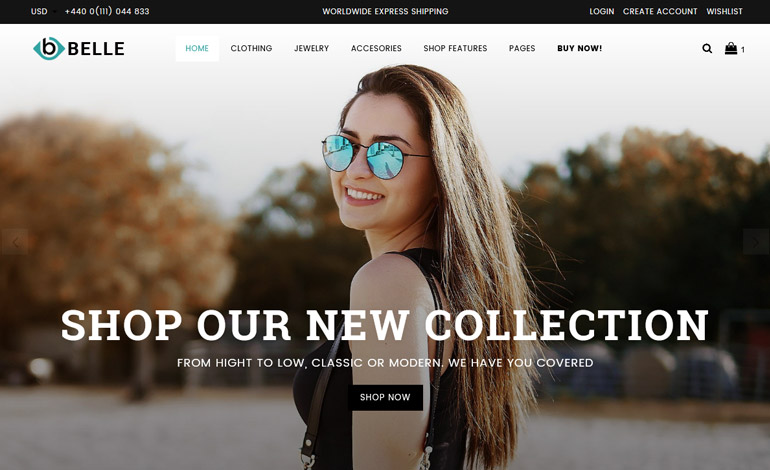 Belle Clothing and Fashion Shopify Theme