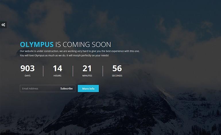 Olympus Responsive Coming Soon WordPress Plugin
