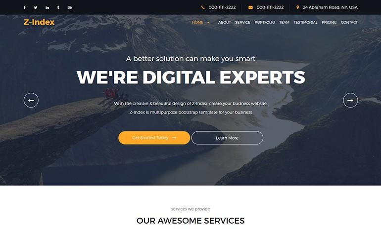 Zindex Responsive Corporate Business Template