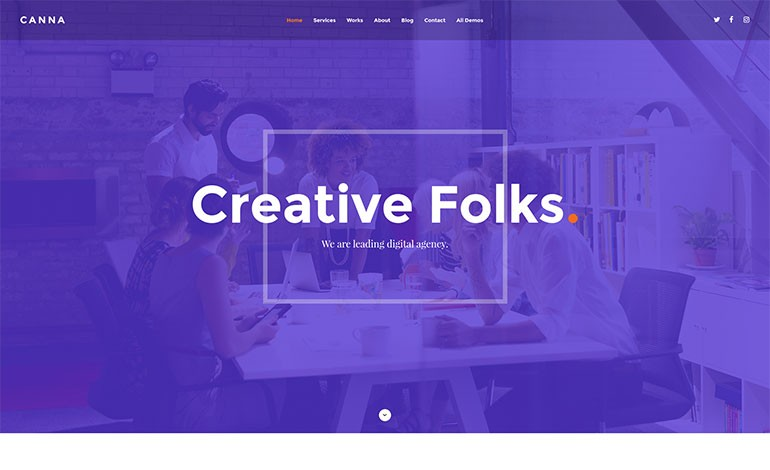 Canna Creative Agency HTML Template