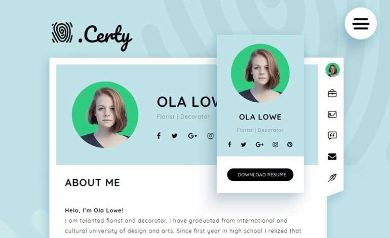 Certy Wordpress Theme