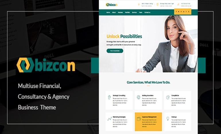 Bizcon Multi Concept WordPress Theme by zozothemes