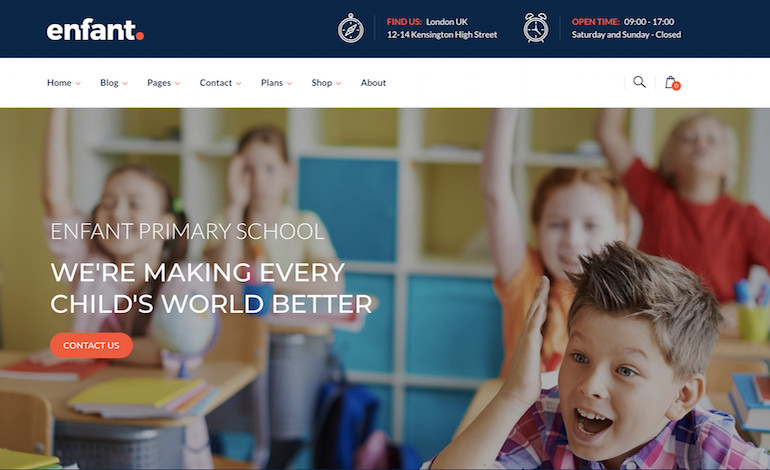 School and Kindergarten WordPress Theme