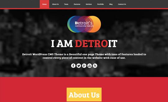 Detroit WordPress CMS Theme