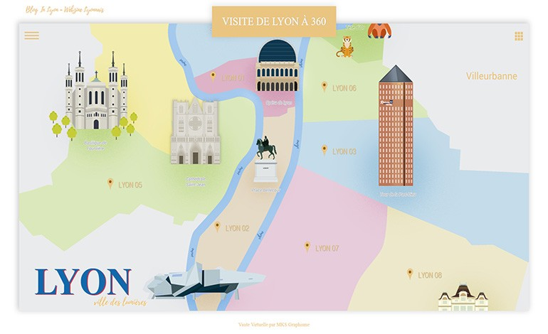 Visite Virtuelle Lyon