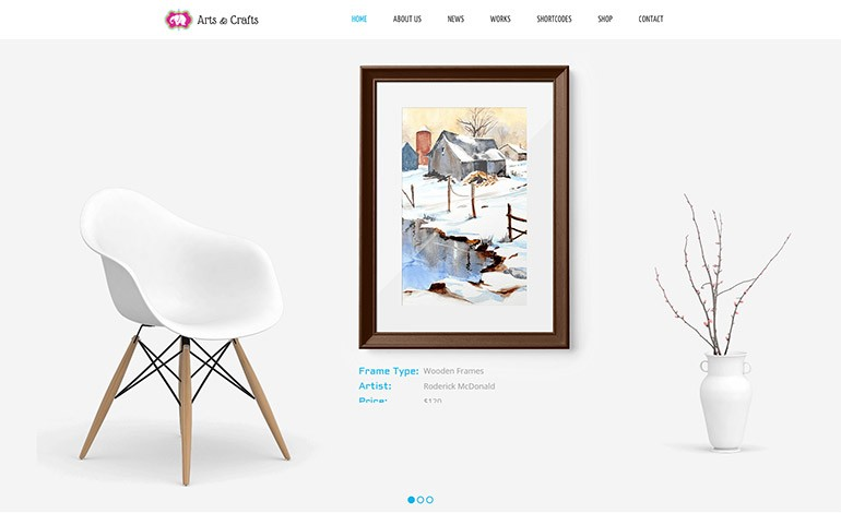 Crafts and Arts Artist Portfolio Theme