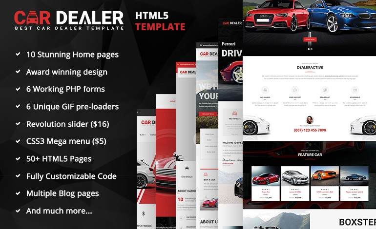 Car Dealer Automotive Responsive HTML5 Template