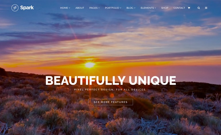 Spark Drag and Drop Responsive WordPress Theme