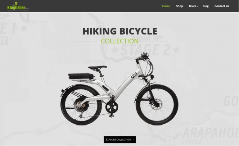Responsive eCommerce Bicycle Store Theme
