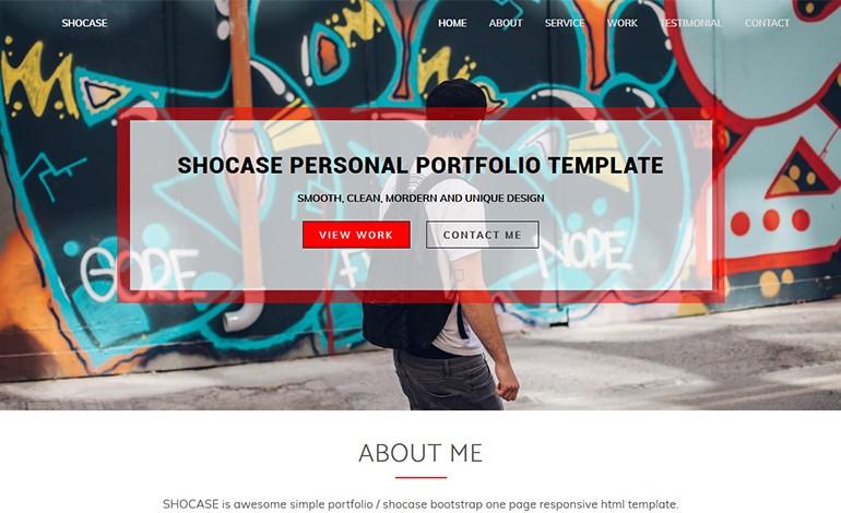 Shocase Personal Portfolio Template