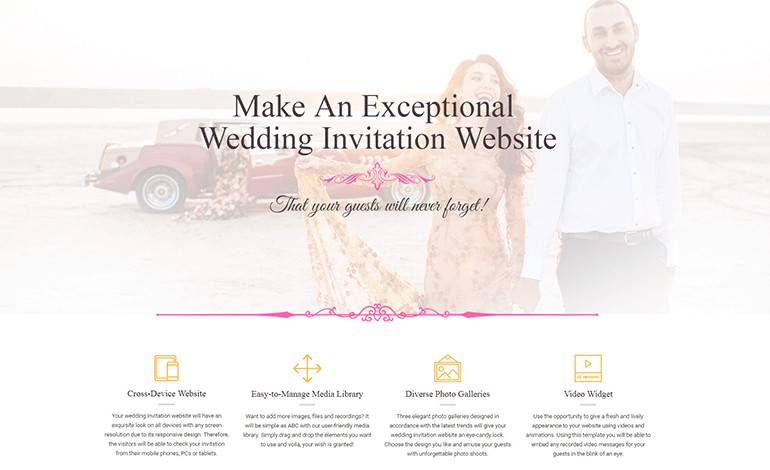 Wedding Invitation Website by MotoCMS