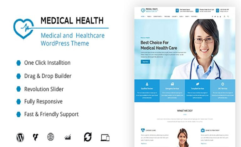 MedicalHealth Medical Clinic Healthcare WordPress Theme