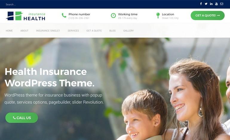 Health Insurance  is an Insurance WordPress Theme