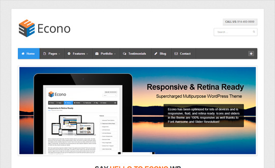 Econo WordPress Theme