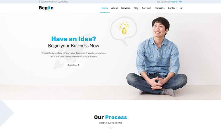 Begin Startup Business Theme