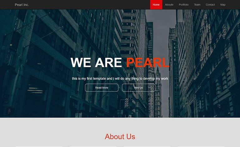 Pearl One Page Portfolio Template
