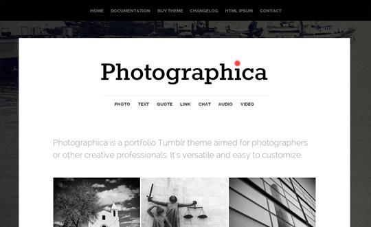 Photographica Tumblr Theme