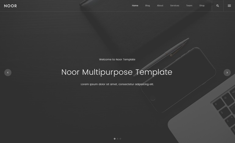 NOOR Creative Multipurpose and Fully Customizable WordPress Theme ...