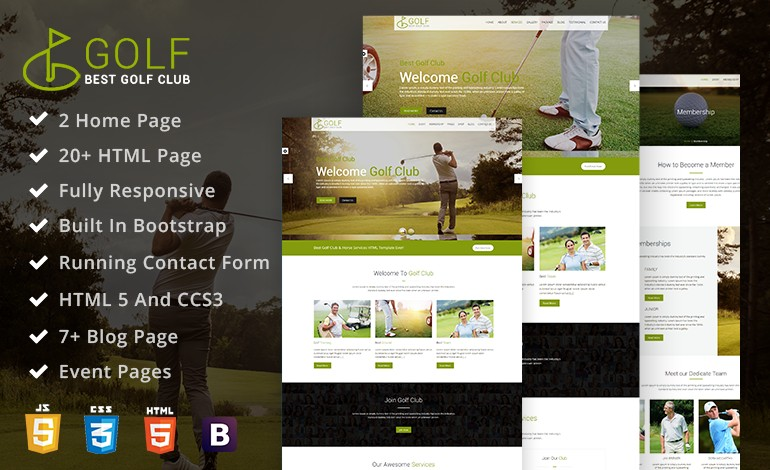 Golf Club Golf Course Html Template