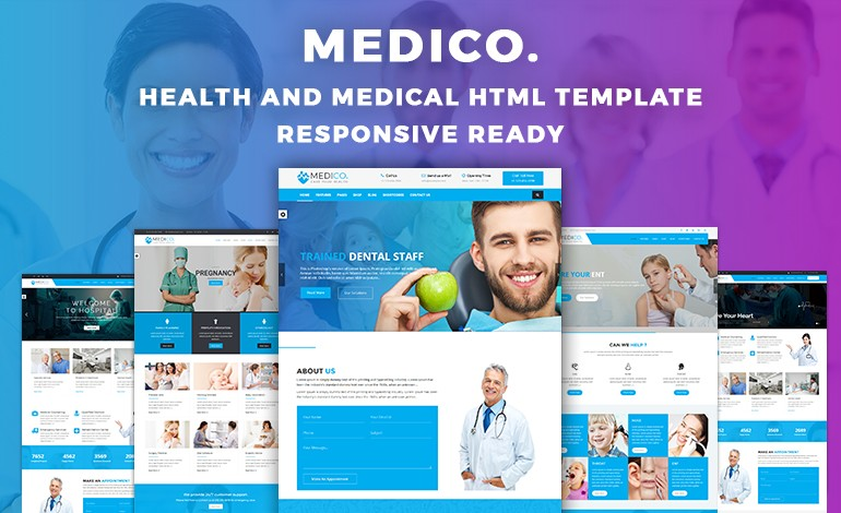 MediCo Hospital and Doctor Clinic HTML Template