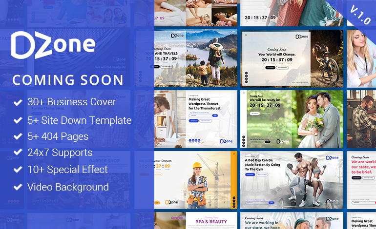Dzone Multipurpose Coming Soon Mobile Responsive Template For Multiple Business