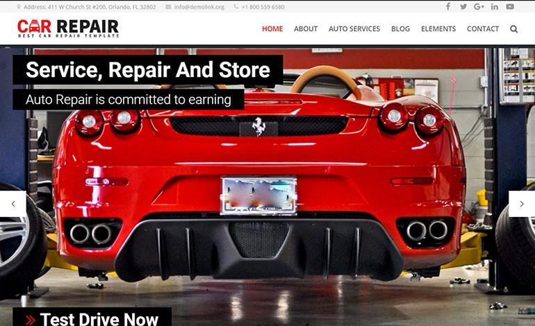 Car Repair Auto Mechanic WordPress Theme
