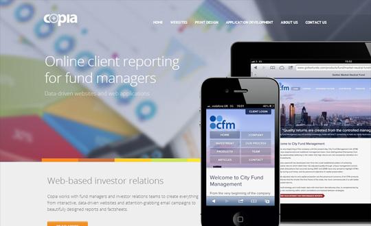 Copia Hedge Fund Websites