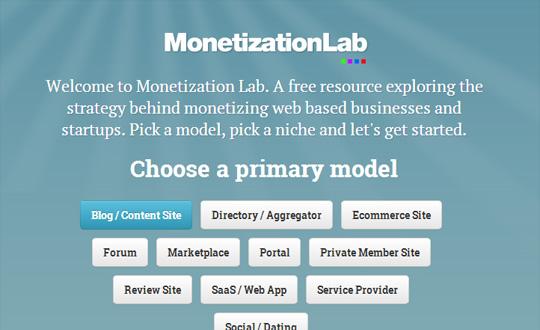 The Monetization Lab