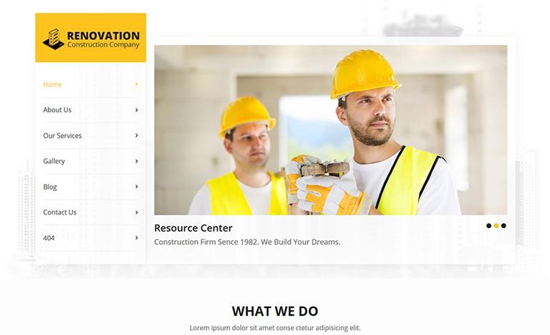 Renovation HTML Template