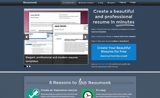 Resumonk Online Resume Builder Maker Generator