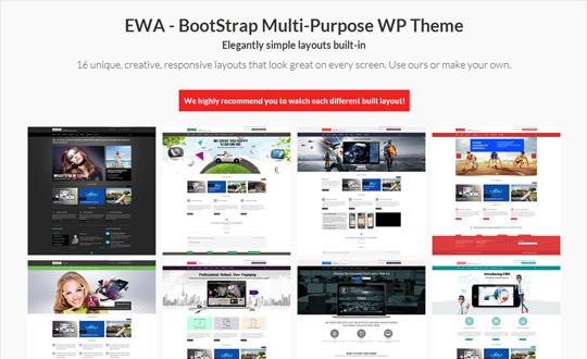 EWA Bootstrap Multi Purpose Wordpress Theme